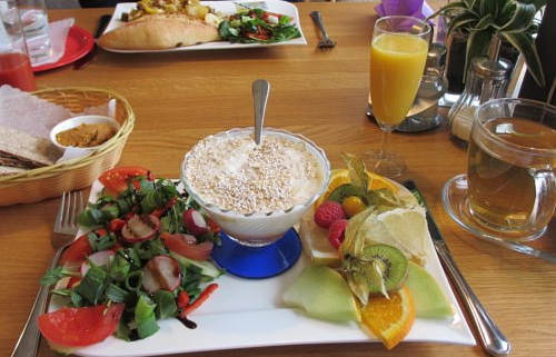 Veganes Frühstück im Café Kongress, Karlsruhe