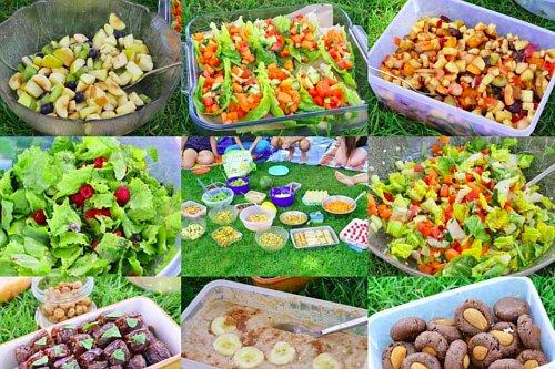 Veganes Rohkost-Picknick